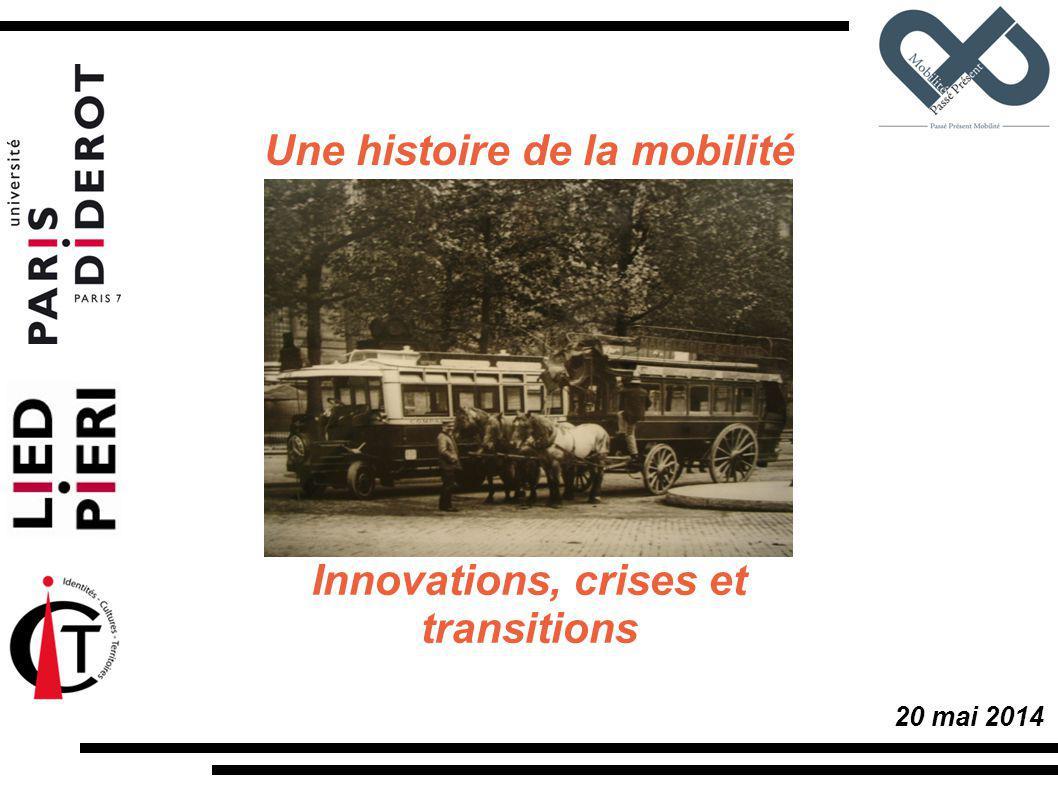 Une histoire de la mobilité Innovations, crises et transitions