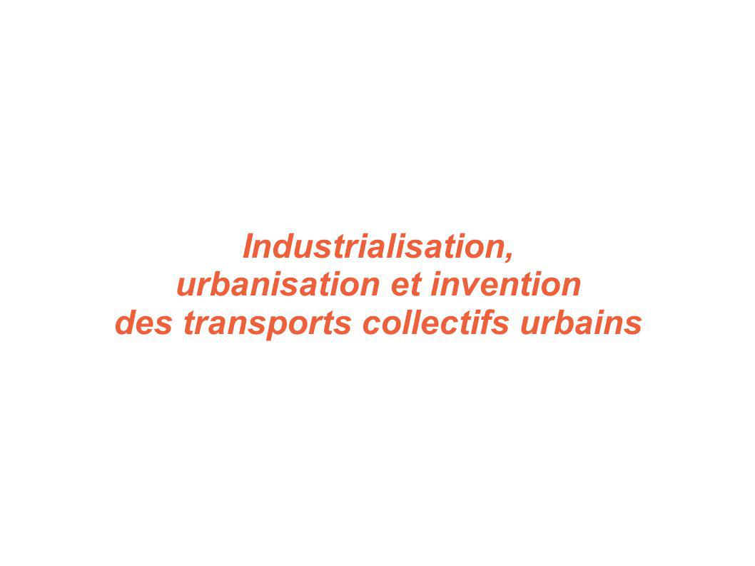 urbanisation et invention des transports collectifs urbains