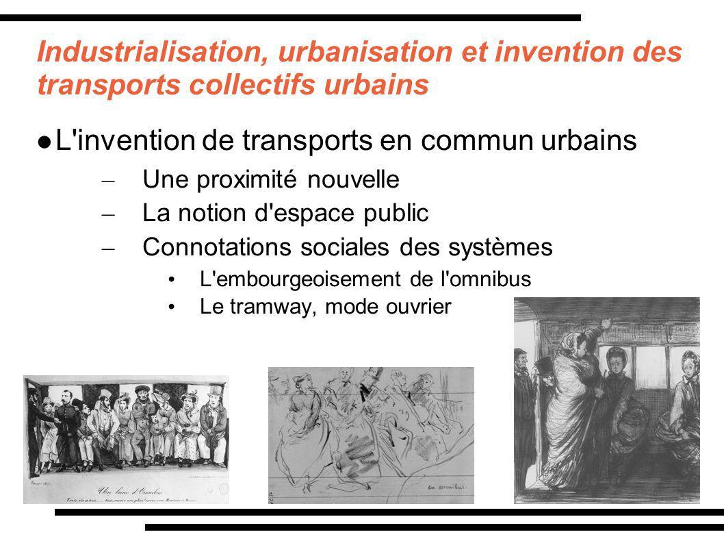 L invention de transports en commun urbains