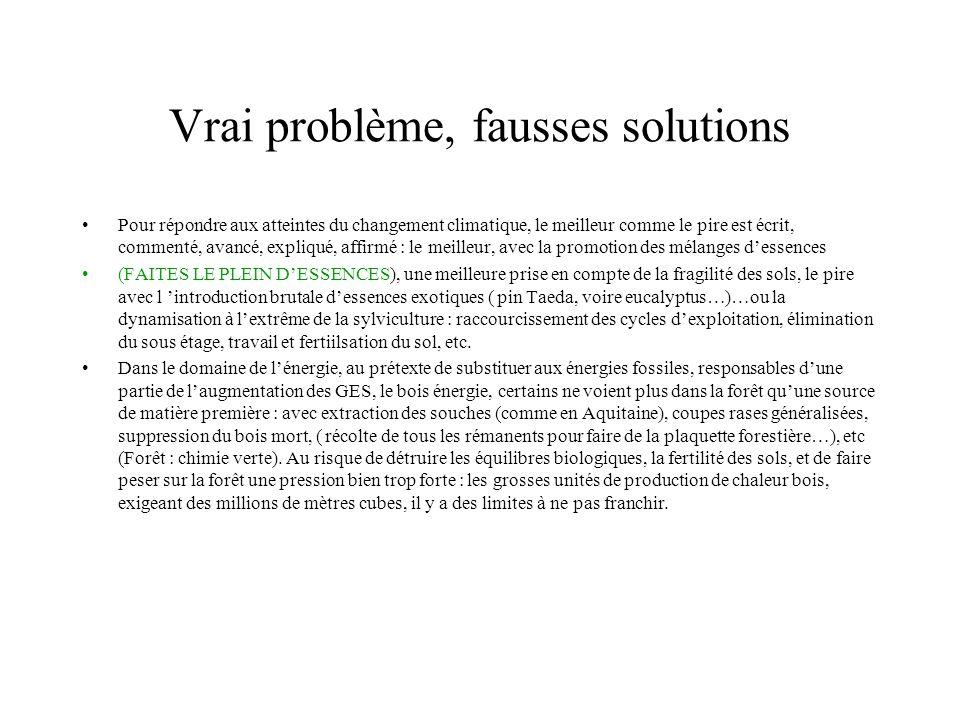Vrai problème, fausses solutions