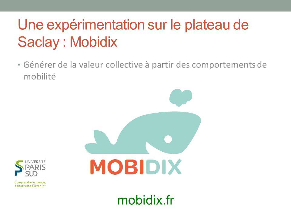 Une expérimentation sur le plateau de Saclay : Mobidix