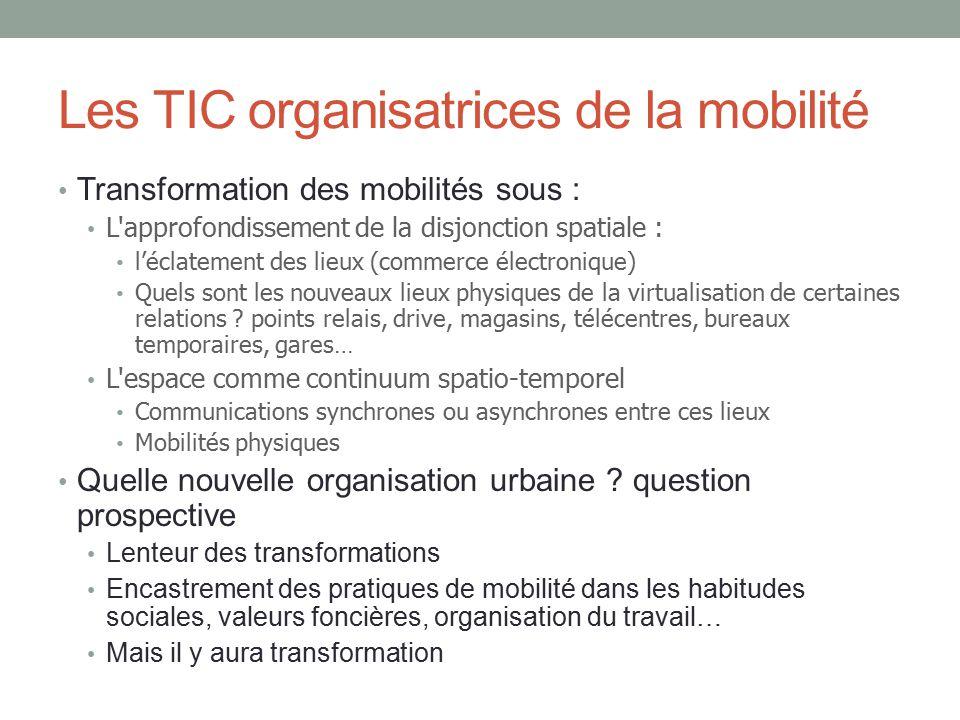 Les TIC organisatrices de la mobilité