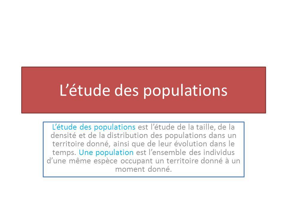 L'étude des populations