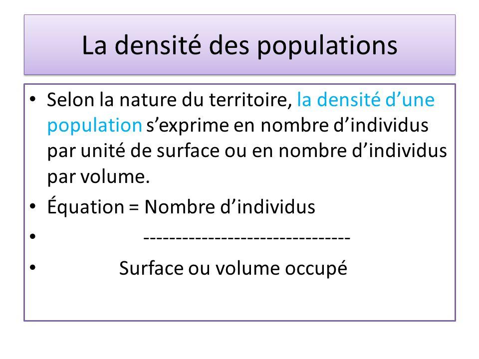 La densité des populations