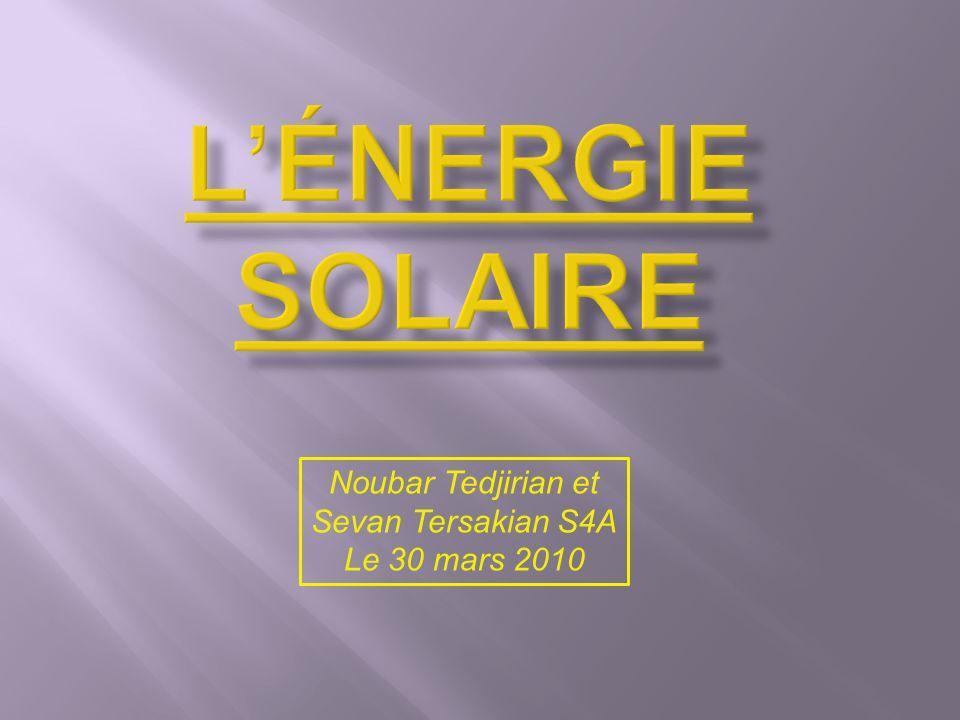 L'énergie solaire Noubar Tedjirian et Sevan Tersakian S4A