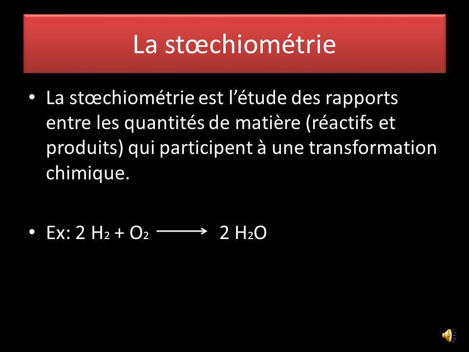 La stœchiométrie