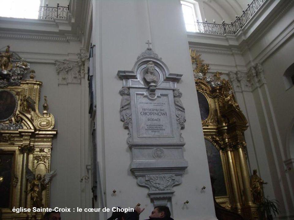 église Sainte-Croix : le cœur de Chopin