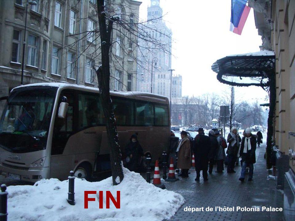 départ de l'hôtel Polonia Palace