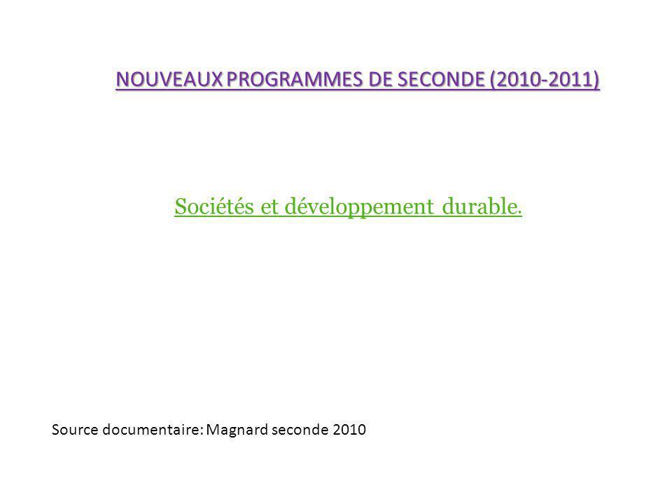 Sociétés et développement durable.