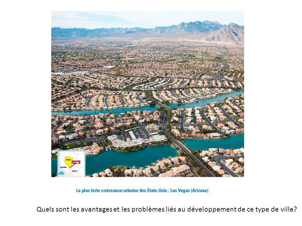Quels sont les avantages et les problèmes liés au développement de ce type de ville