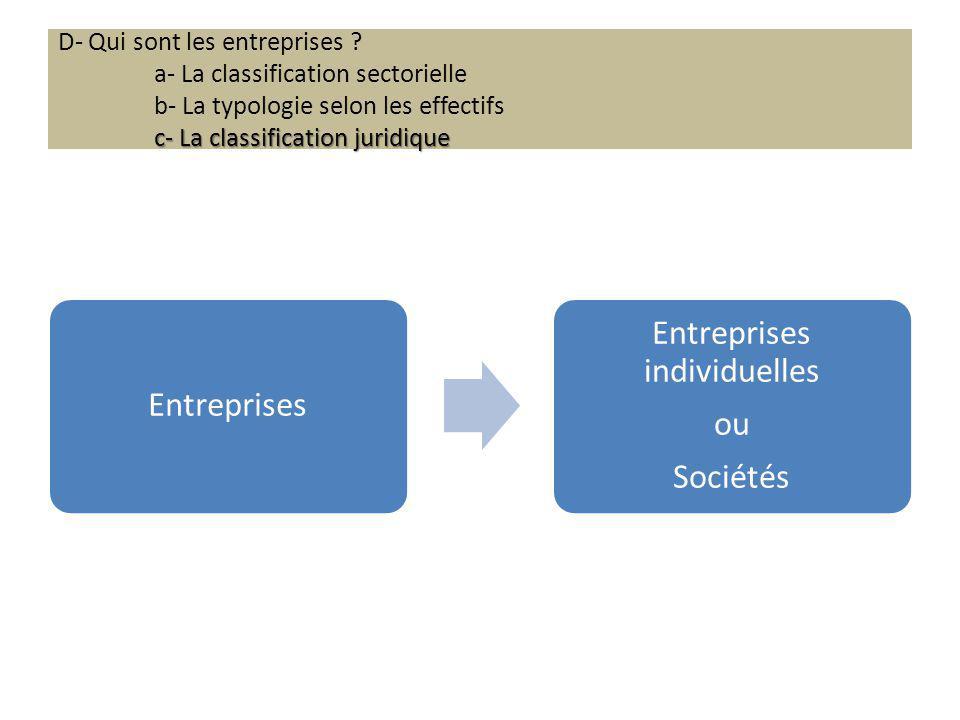 Entreprises individuelles
