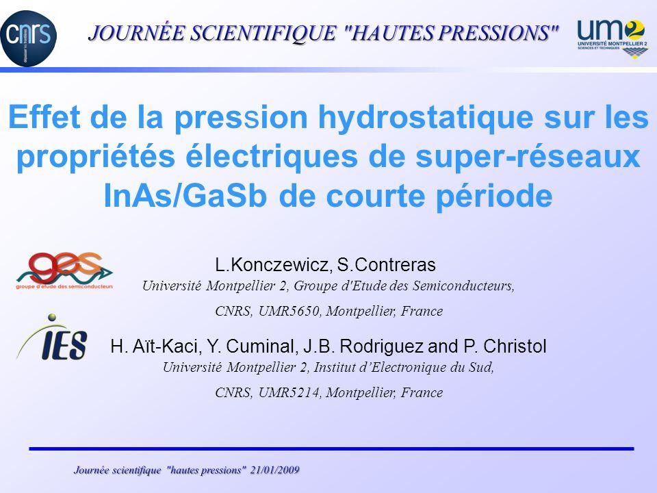 JOURNÉE SCIENTIFIQUE HAUTES PRESSIONS