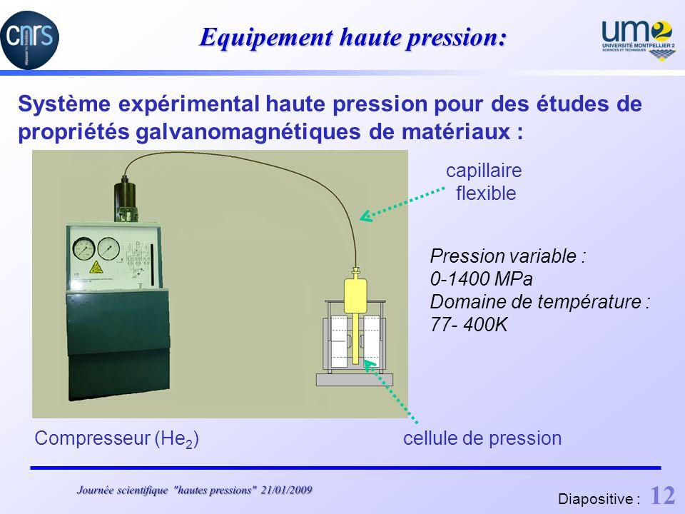 Equipement haute pression: