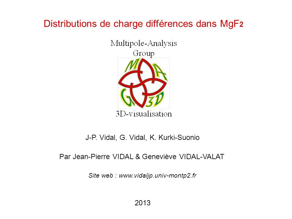 Distributions de charge différences dans MgF2