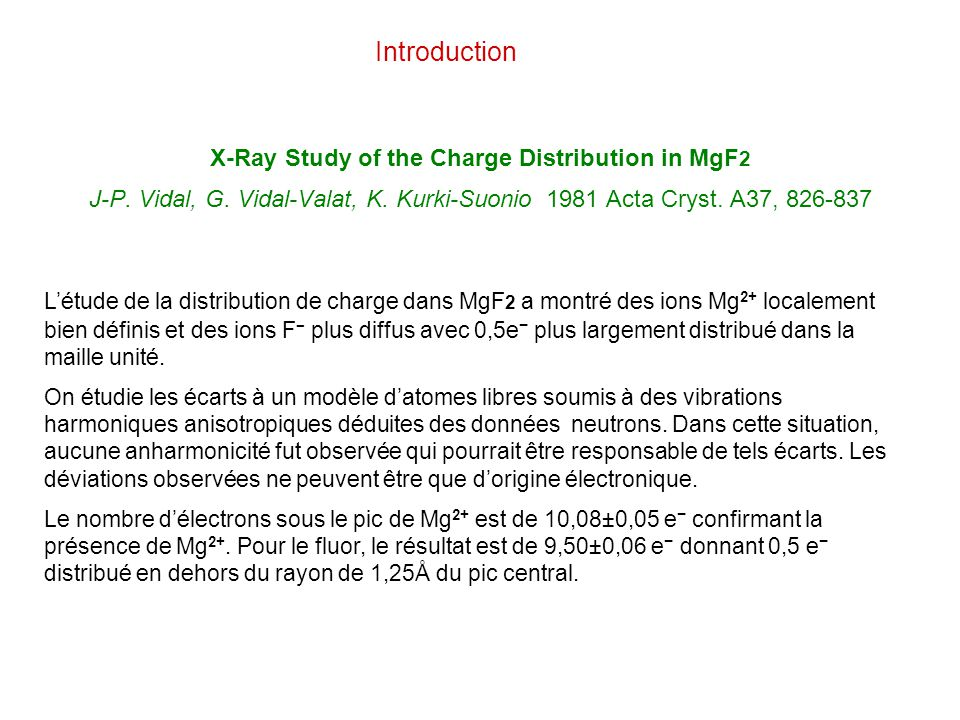 X-Ray Study of the Charge Distribution in MgF2