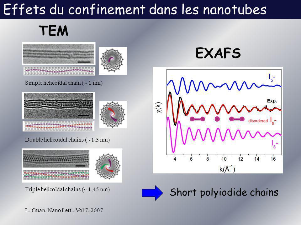Effets du confinement dans les nanotubes