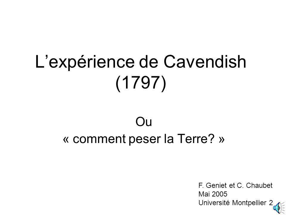 L'expérience de Cavendish (1797)