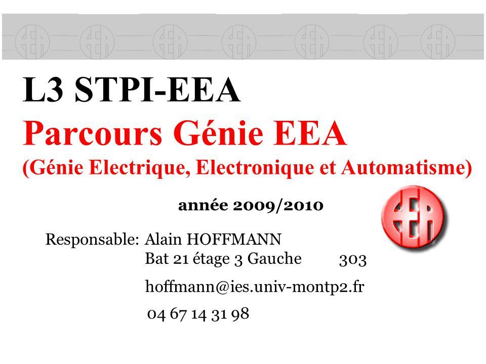 L3 STPI-EEA Parcours Génie EEA