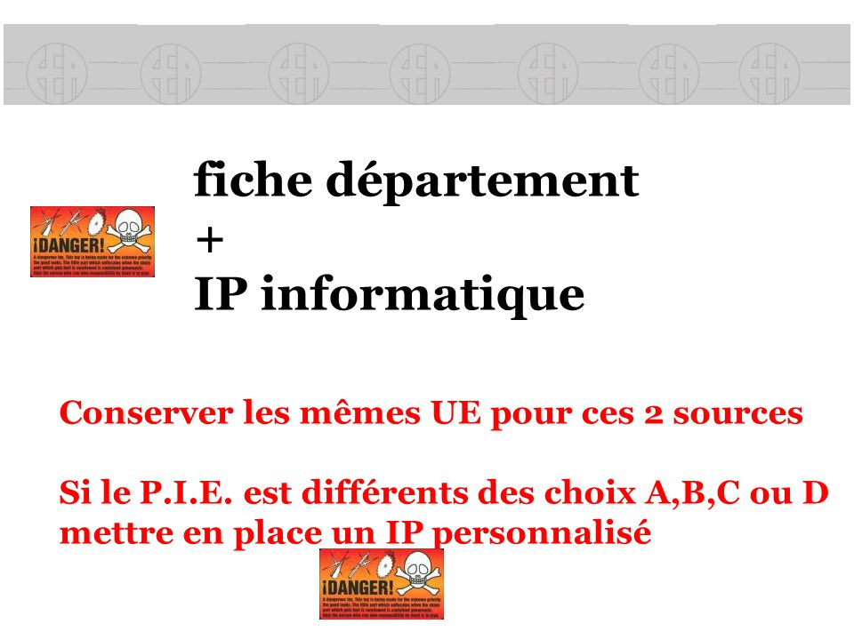 fiche département + IP informatique