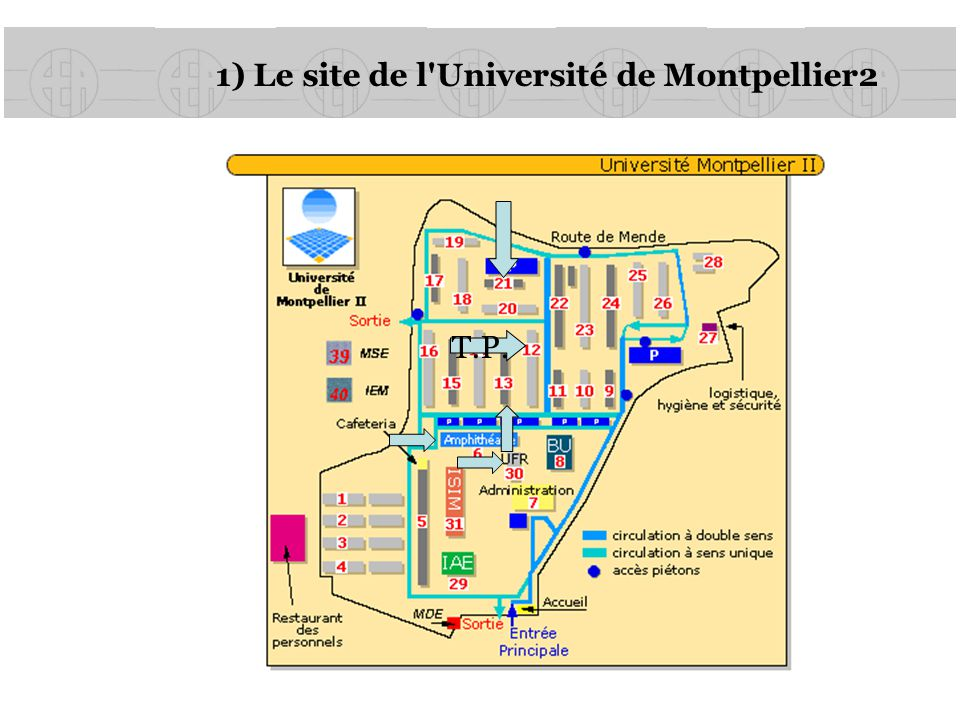 1) Le site de l Université de Montpellier2