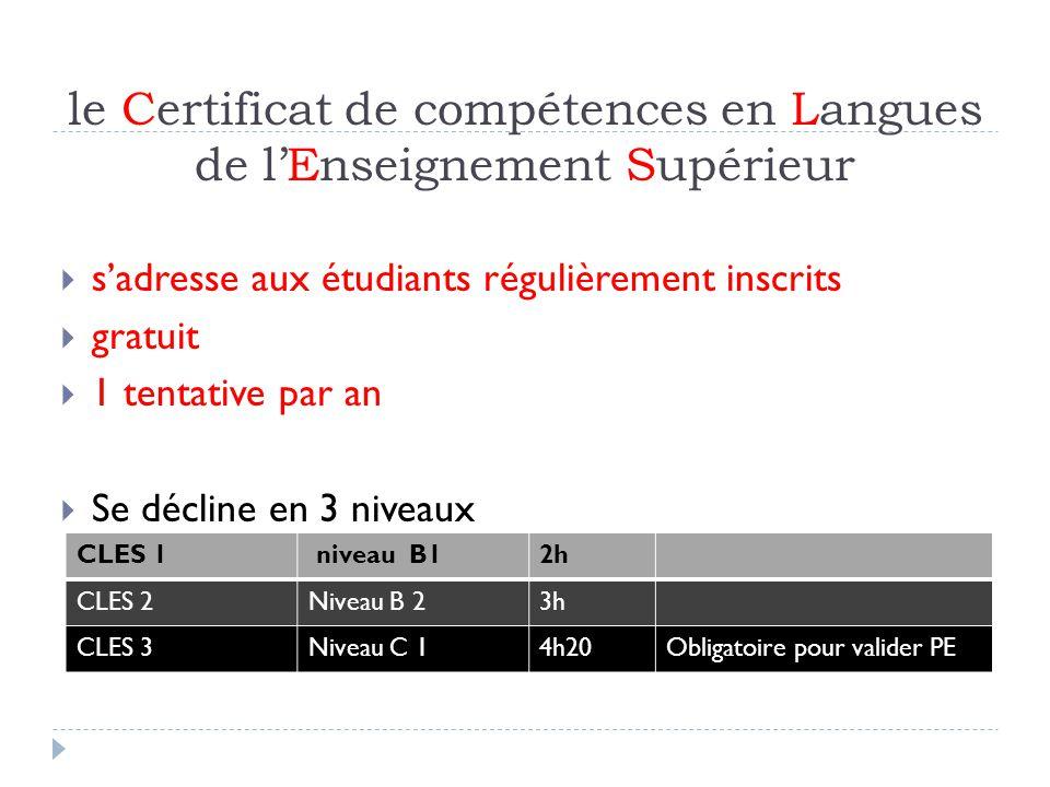 le Certificat de compétences en Langues de l'Enseignement Supérieur