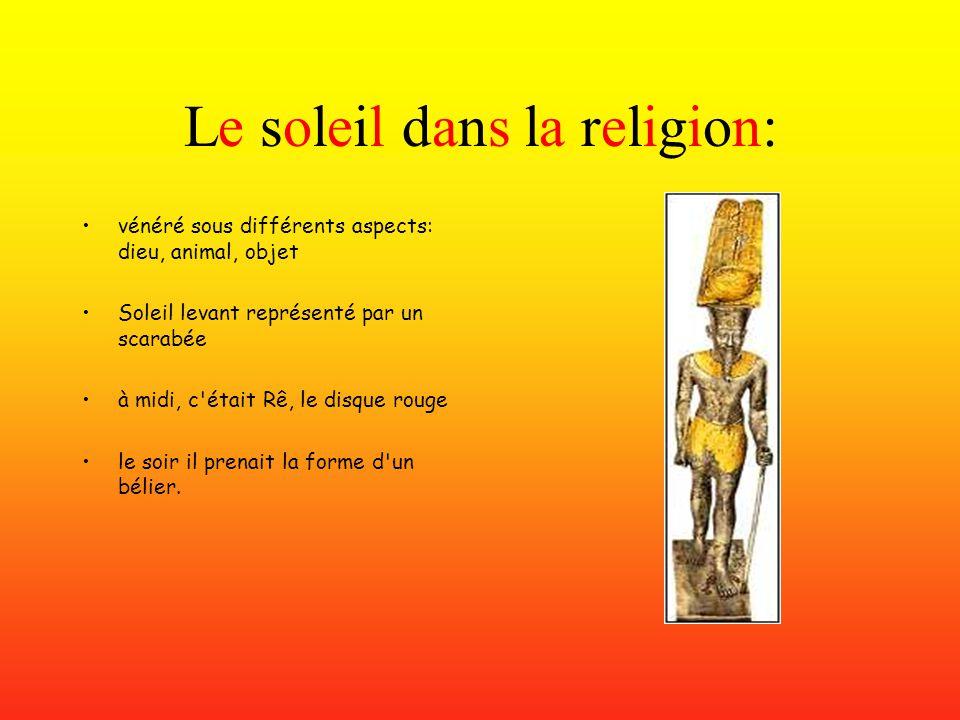 Le soleil dans la religion: