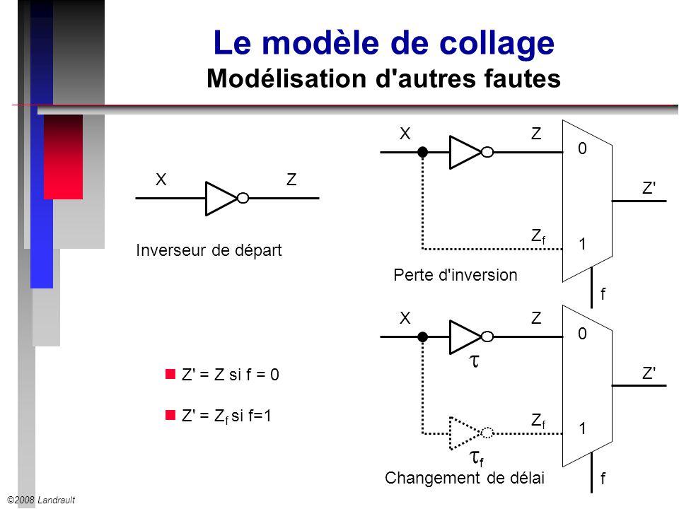 Le modèle de collage Modélisation d autres fautes