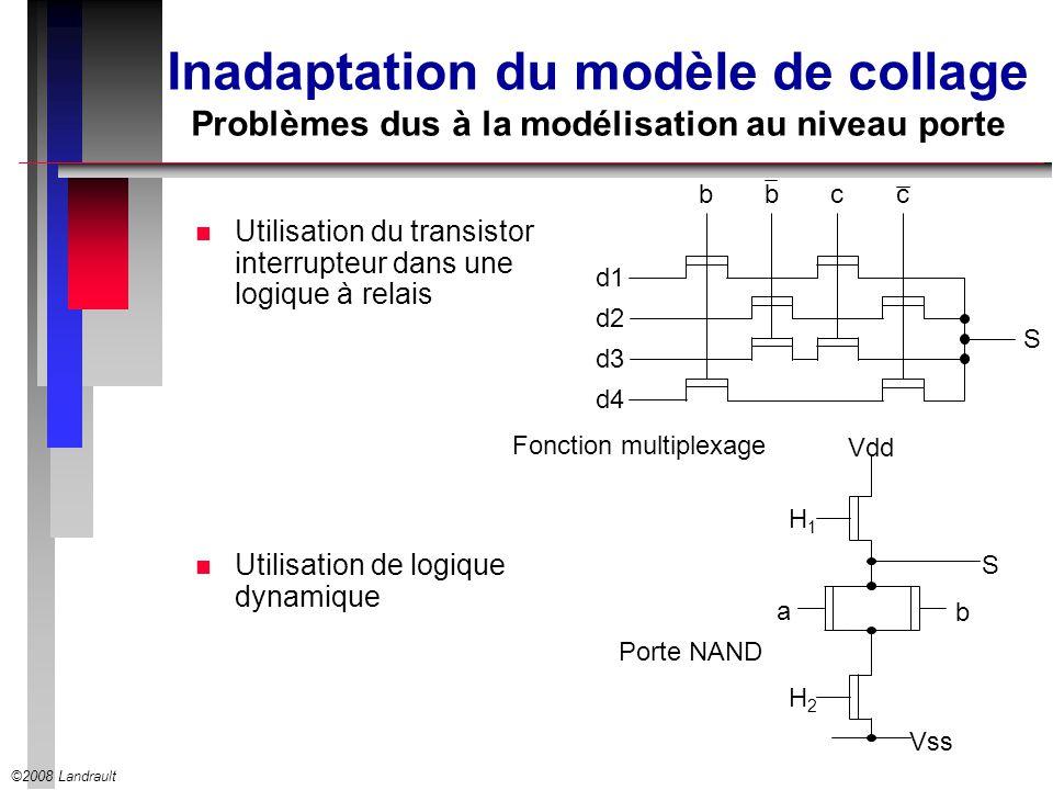 Inadaptation du modèle de collage Problèmes dus à la modélisation au niveau porte