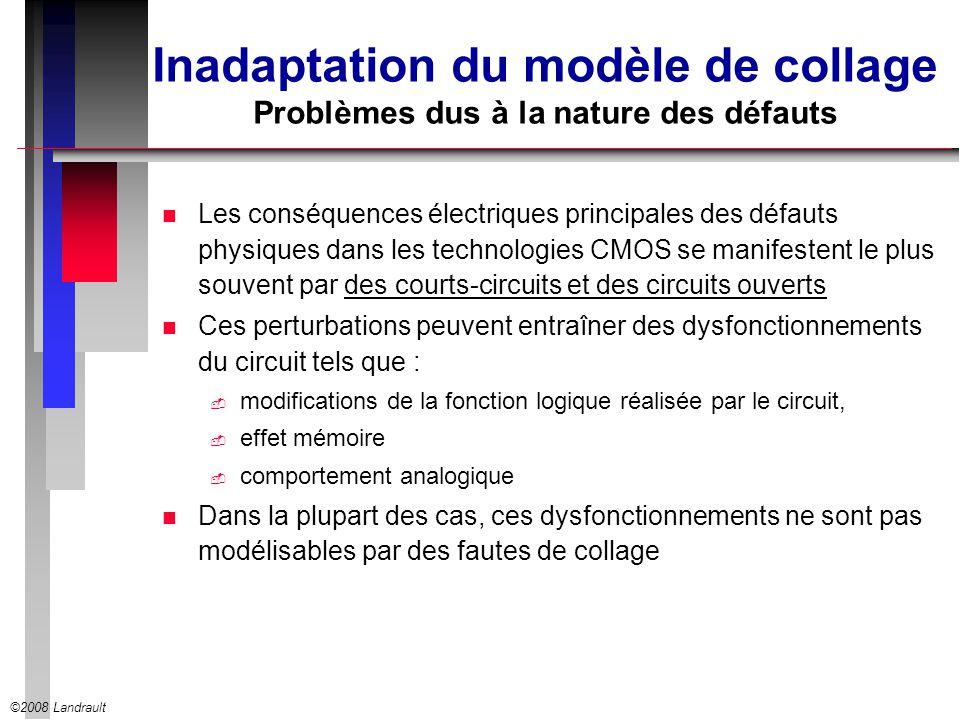 Inadaptation du modèle de collage Problèmes dus à la nature des défauts