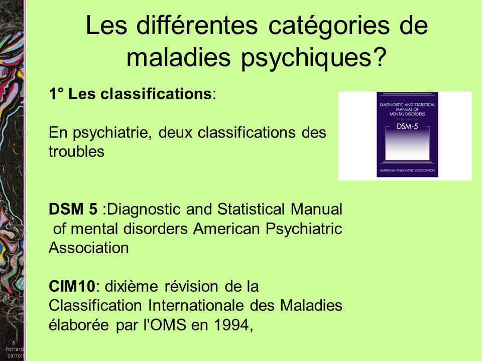 Les différentes catégories de maladies psychiques