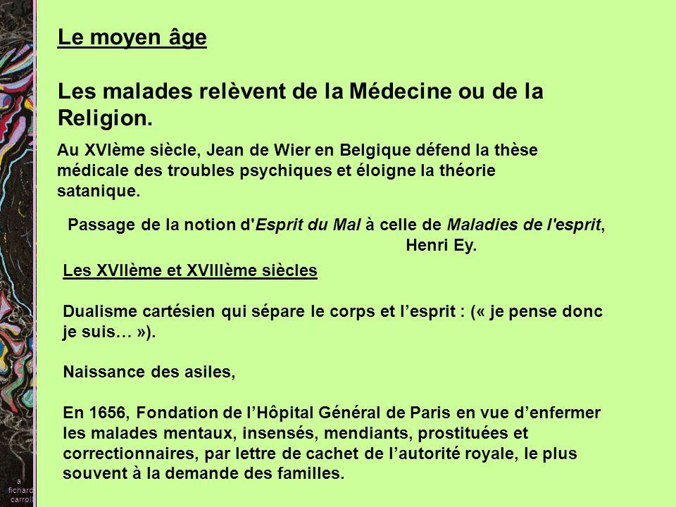 Les malades relèvent de la Médecine ou de la Religion.