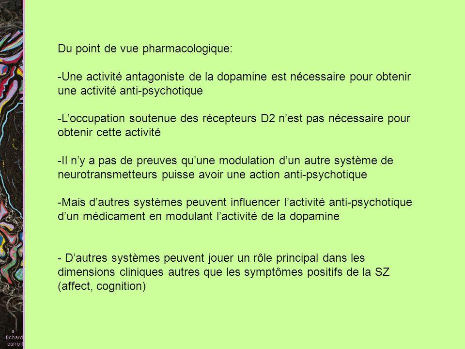 Du point de vue pharmacologique: