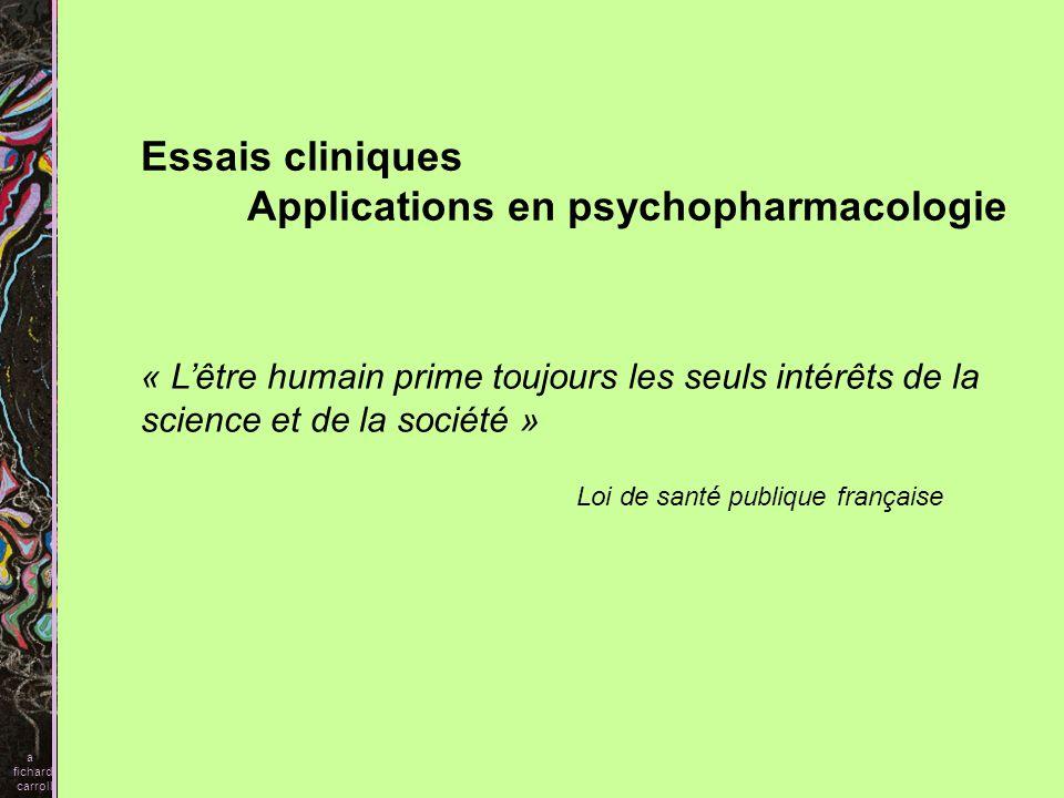 Applications en psychopharmacologie