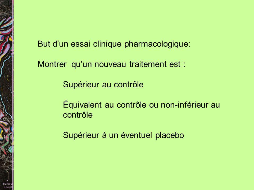 But d'un essai clinique pharmacologique: