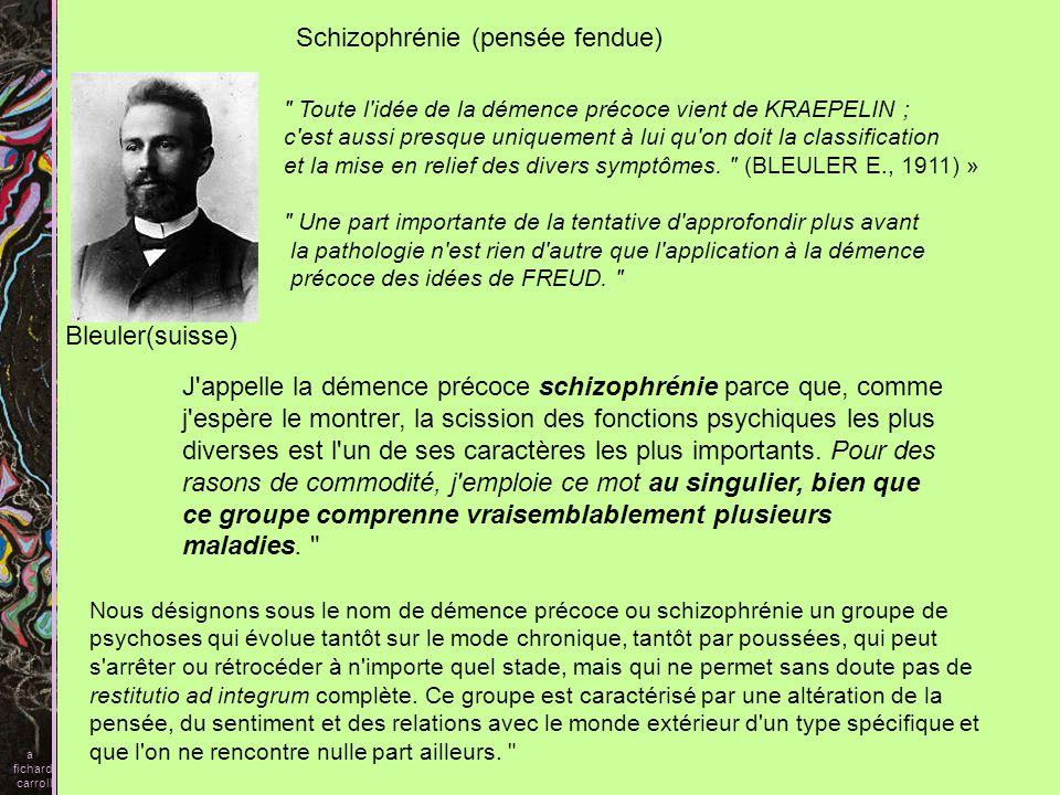 Schizophrénie (pensée fendue)
