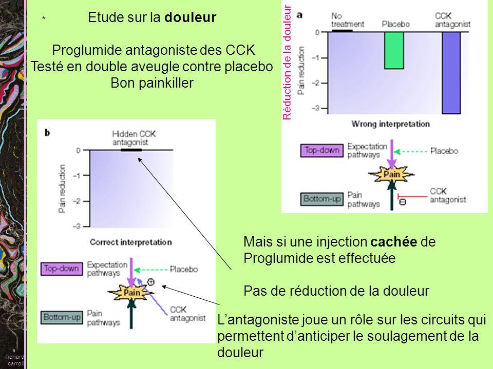 Proglumide antagoniste des CCK Testé en double aveugle contre placebo
