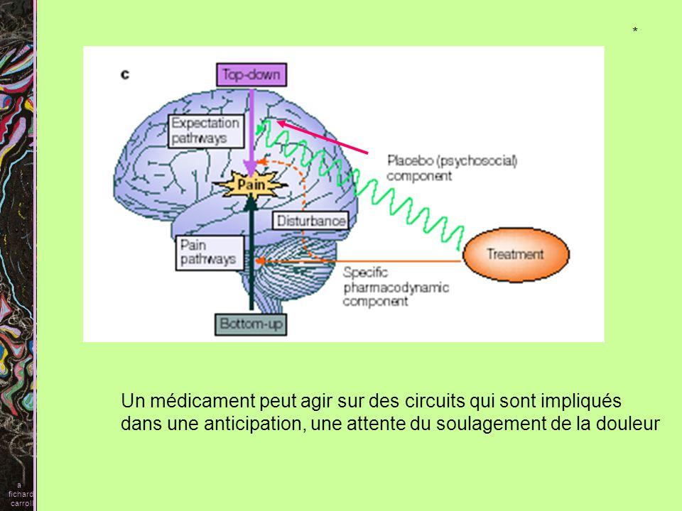 Un médicament peut agir sur des circuits qui sont impliqués