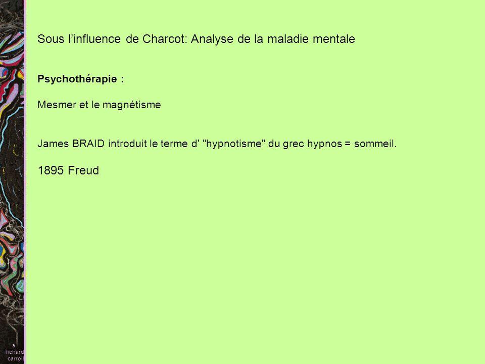 Sous l'influence de Charcot: Analyse de la maladie mentale