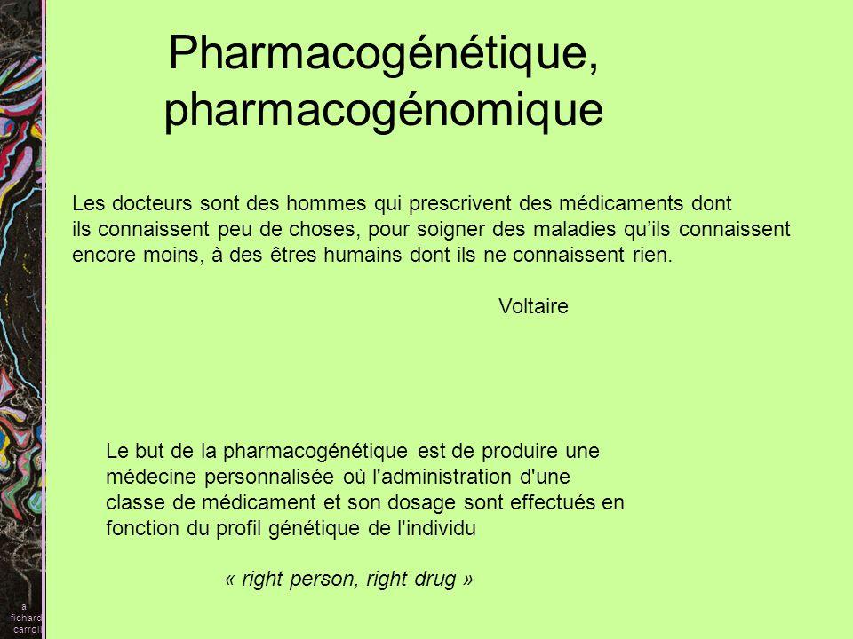 Pharmacogénétique, pharmacogénomique