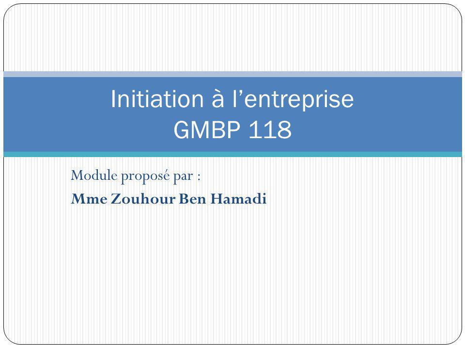 Initiation à l'entreprise GMBP 118