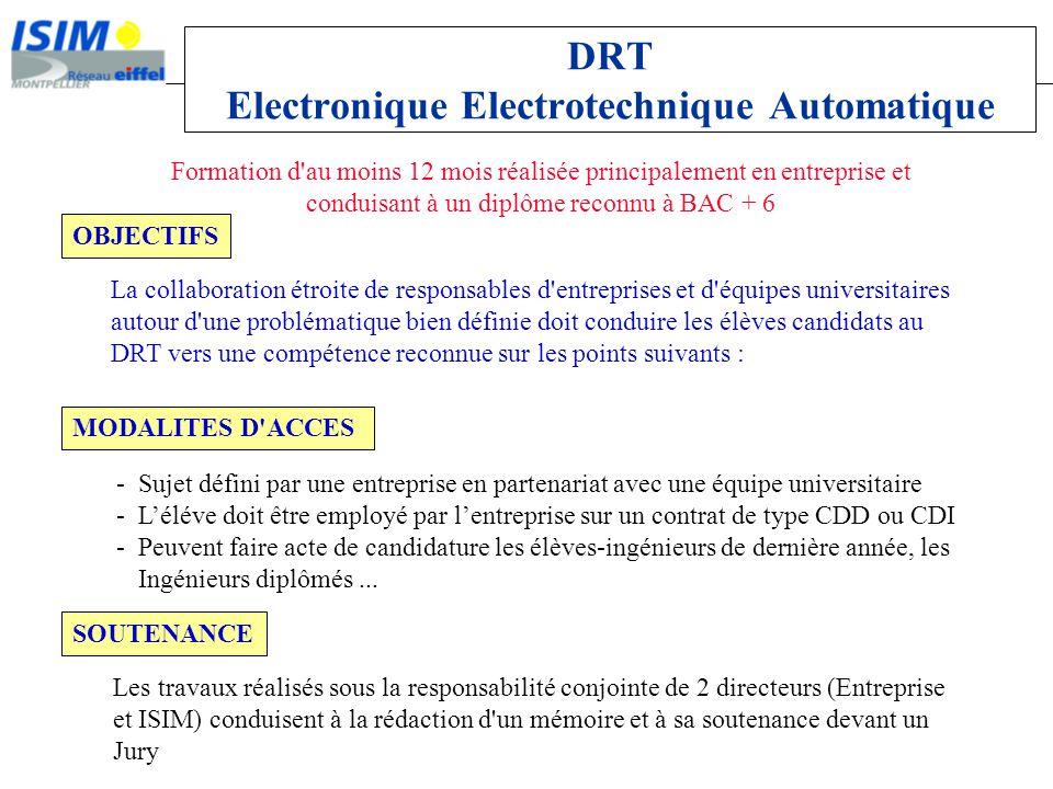 DRT Electronique Electrotechnique Automatique