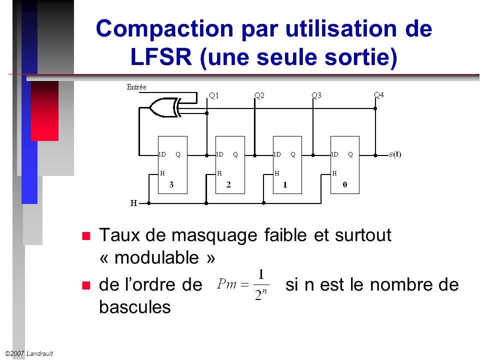 Compaction par utilisation de LFSR (une seule sortie)