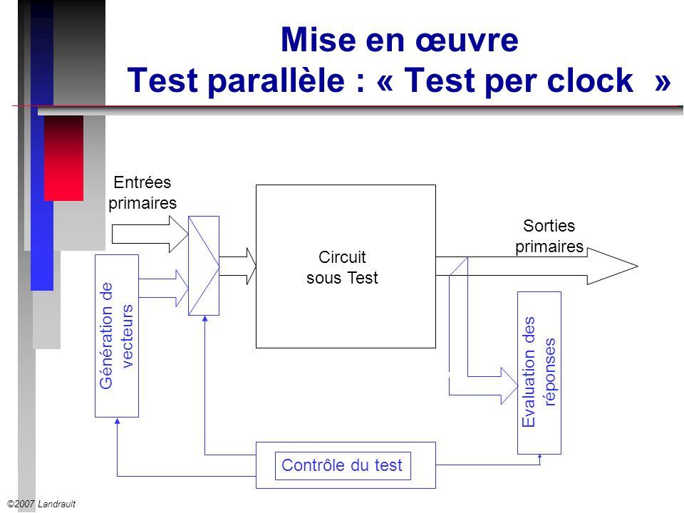 Mise en œuvre Test parallèle : « Test per clock »