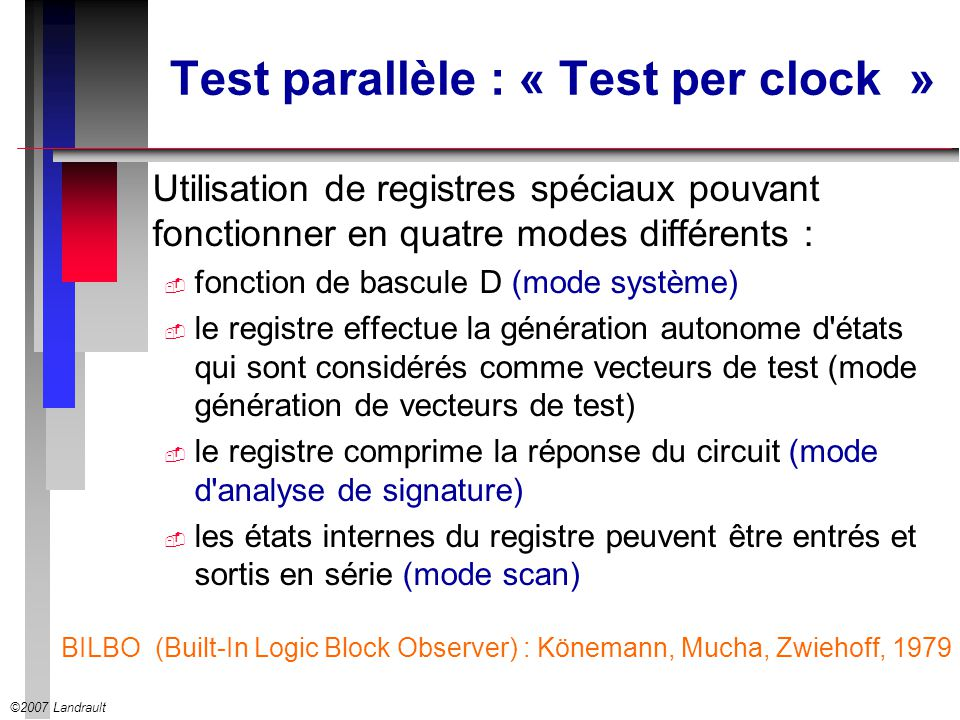 Test parallèle : « Test per clock »