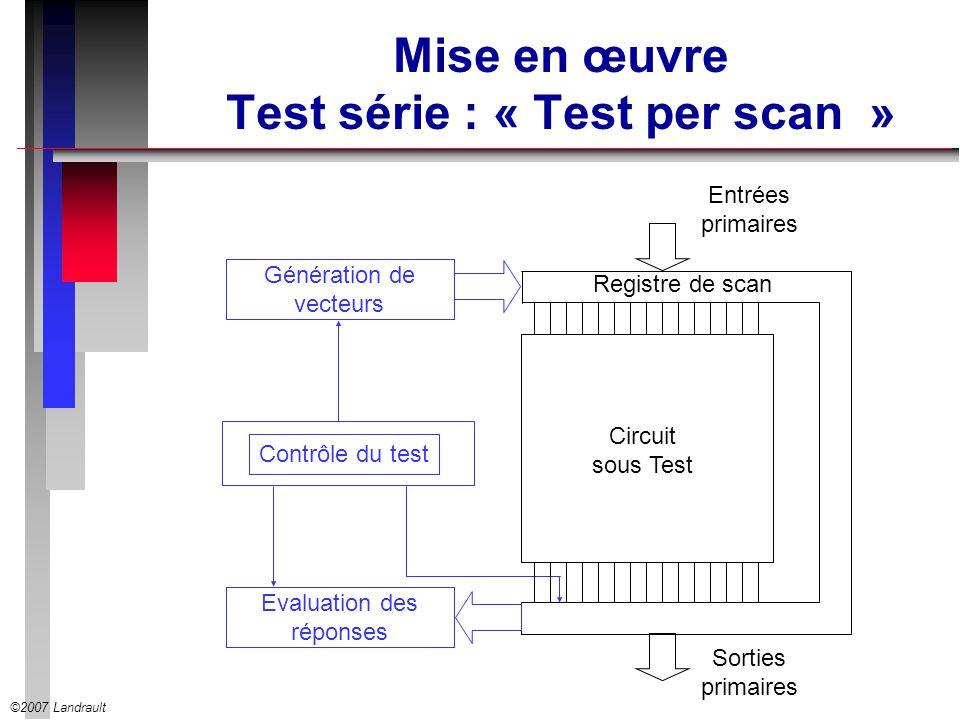 Mise en œuvre Test série : « Test per scan »
