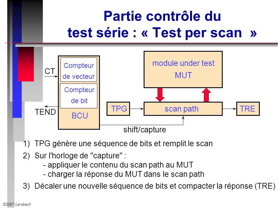 Partie contrôle du test série : « Test per scan »