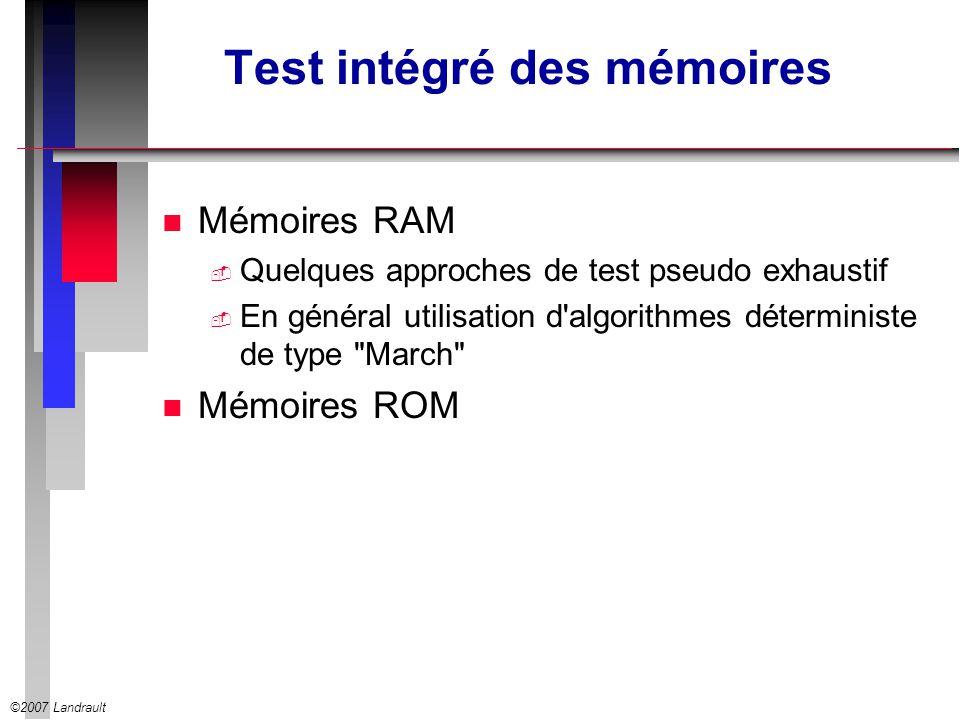 Test intégré des mémoires