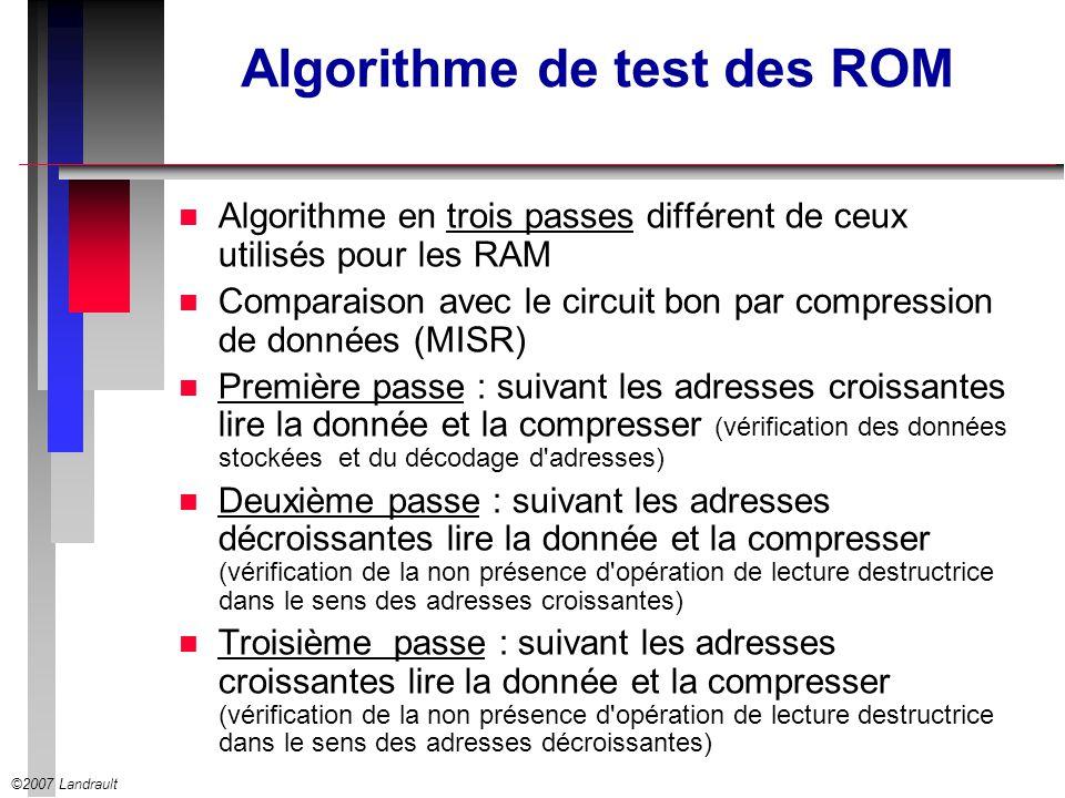 Algorithme de test des ROM