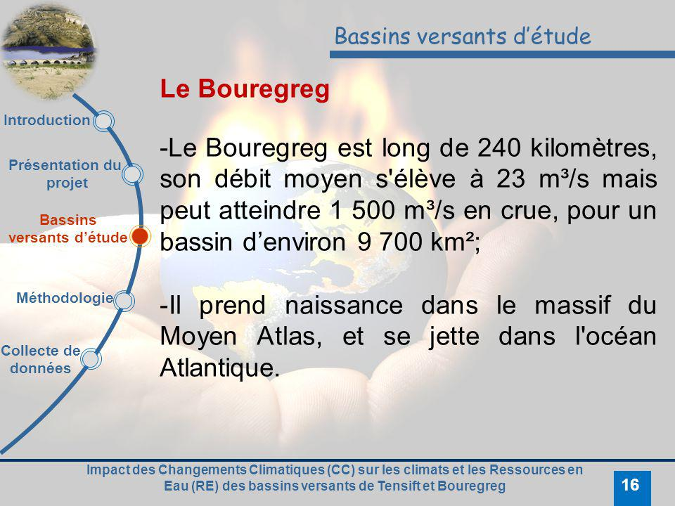 Bassins versants d'étude