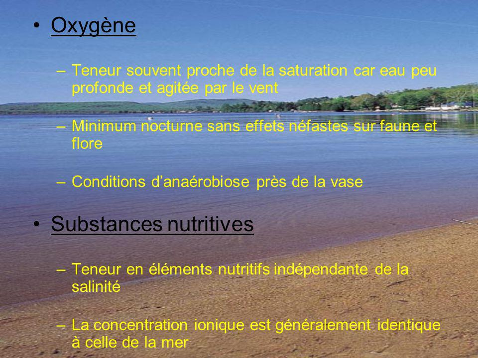 Substances nutritives